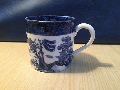Early Booths Real Old Willow Pattern Coffee Cup Blue & White China