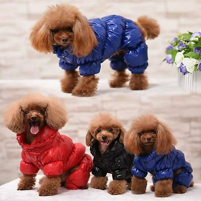 Waterproof Dog Pet warm winter Thick Coat Jacket Puppy Hoodie clothes Jumpsuit