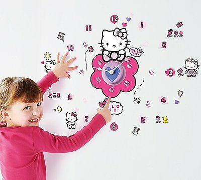 Hello Kitty Vinyl Wanduhr mit kitty Aufkleber