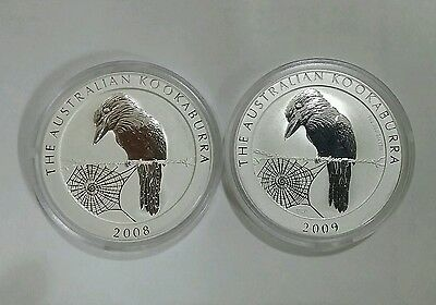 2008-2009 1 oz Silver Kookaburra must see description