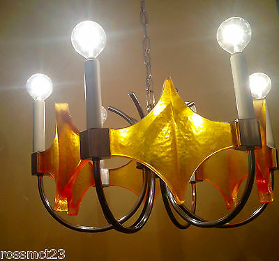 Vintage Lighting 1970s MOD chandelier by Moe.  Coolest Light Ever