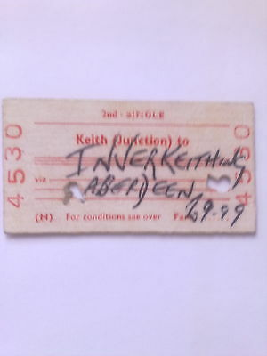 B, R, B,   Ticket,  (  Keith Junction  To  Inverkeithing,  1980, )