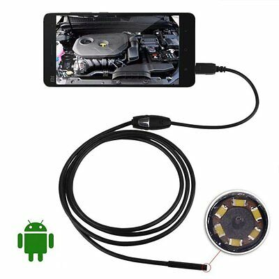 2/5M 7mm 6LED Android Endoscope Waterproof Snake Borescope USB Inspection Camera