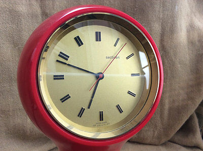 Secticon clock T1 red orologio da tavolo design by Angelo Mangiarotti 1956