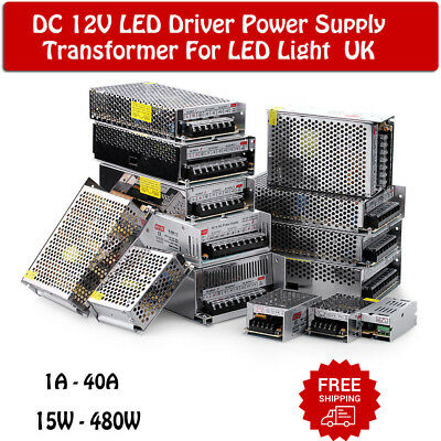 DC12V for LED Strip Light LED Power Supply Transformer IP20 AC 230V UK Lighting