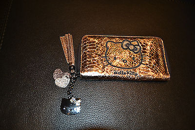 HELLO KITTY LARGE PURSE, METALLIC GOLD 3 INNER COMPARTMENTS 20x11cm