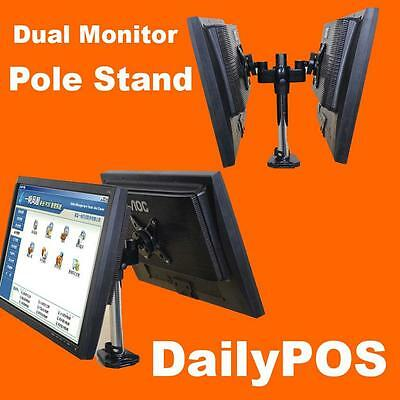 Brand New Dual Monitor LCD Screen Table Stand POS Point of Sale