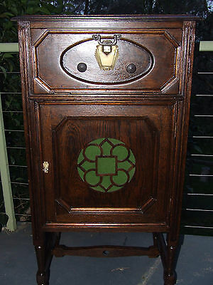 Antique Gramophone Cabinet Wine Cabinet Restored Mint Condition
