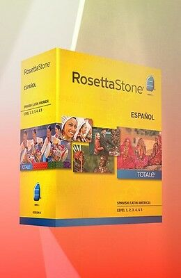 Rosetta Stone Spanish (European) Level 1, 2, 3, 4, 5!!!