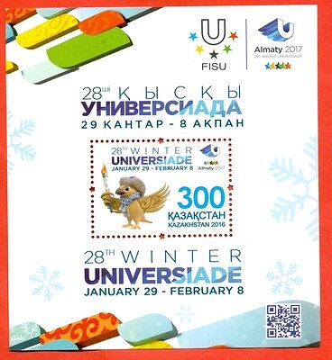 Kazakhstan 2016. Block. Winter Universiade in Kazakhstan. New!!!!