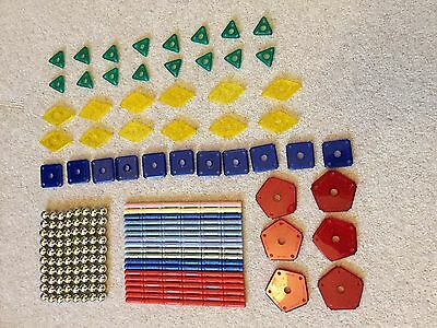 GEOMAG magnetic construction toy bundle - 233 mixed pieces