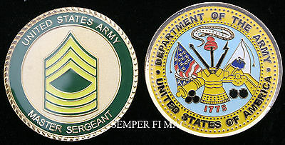 Master Sergeant Msgt Challenge Coin E8 Promotion Retirement Us Army Veteran Gift