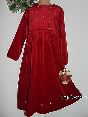 Laura Ashley vintage Mother & Child raspberry-red velvet party dress, 6 years