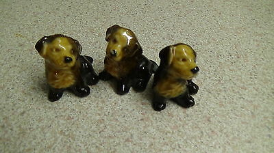 Vintage Wade Whimsies Puppys X3
