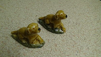 Vintage Wade Whimsies Dogs X2