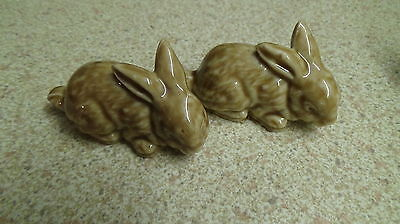 Vintage Wade Whimsies Rabbits X2