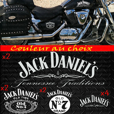 10 stickers autocollant Jack Daniel's old kit sticker deco casque moto harley