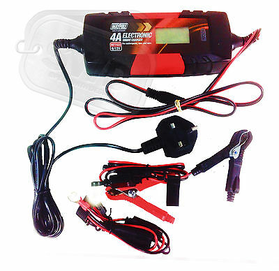 4A car boat leisure battery charger smart automatic 5 step 6v 12v LCD DISPLAY