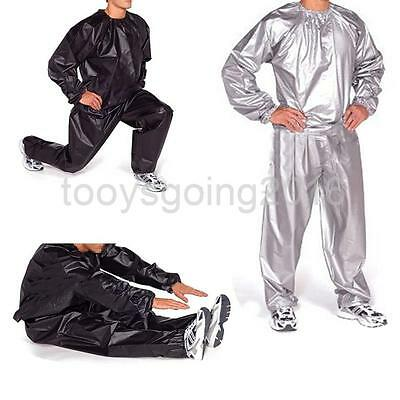 Heavy Duty Gym Workout Fitness Sauna Sweat Track Suit Slimmer Fat Weight Loss