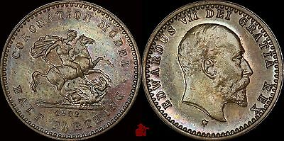 EDWARD VII  Coronation Model Trial Strike HALF FARTHING 1902 Uncirculated