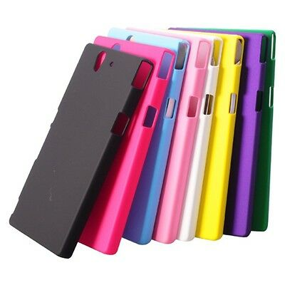 8 Pcs Set Bright Candy Colored Plastic Protective Back Case for Sony L36h Xperia