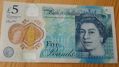 AA05  5 Pound Note Low Serial collectible