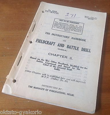 Original Wwii British Manual: Fieldcraft & Battle Drill Vs. Japanese Forces
