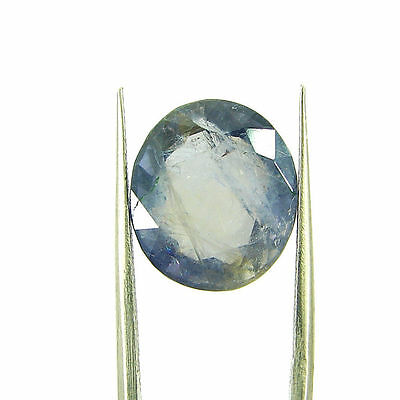 7.28 Ct Oval Natural Blue Iolite Loose Gemstone Untreated Stone - 116781
