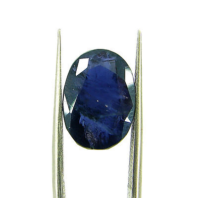 6.00 Ct Oval Natural Blue Iolite Loose Gemstone Untreated Stone - 116759