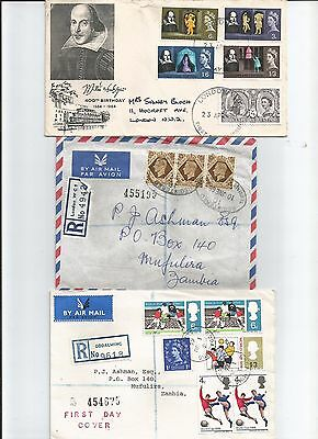 2 zambia cover and 1 UK