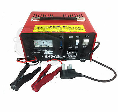Heavy duty 8A metal case car battery charger professional large 12v 90Ahr handle