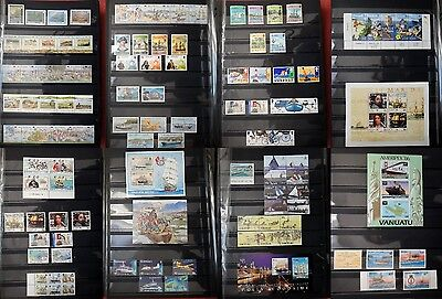 BOAT SHIP SEA British Colonies COLLECTION 107 stamps /5 sheets MNH VF - r40b1763