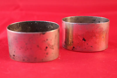 Pair Of Nice Antique E J Houlston Birmingham Silver Plate Epns Napkin Rings