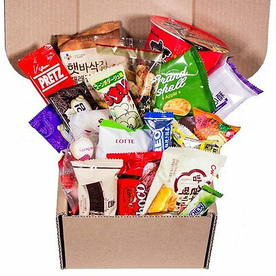 Classic Asian Snack Box 20 Count College Care Package   Japanese Snacks   Korean