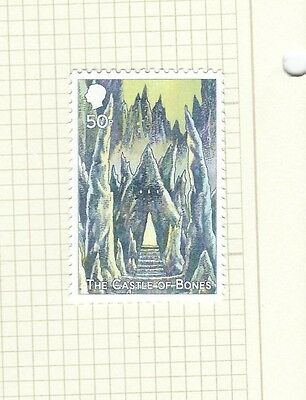 Discworld Stamp 2012 Hogswatch Castle of Bones 50 Pence Rare Retired Hogfather