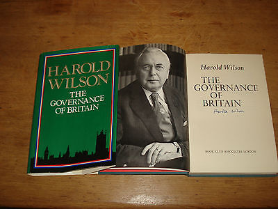 The Governance of Britain by Harold Wilson - Hardback, 1976 (Signed copy)