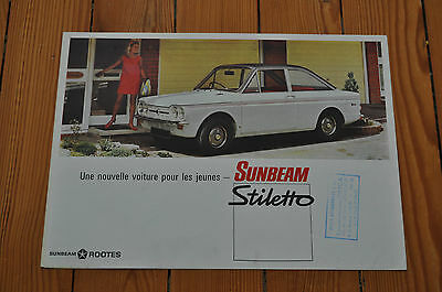 Brochure Prospekt Catalogue Dépliant Prospectus SUNBEAM STLETTO French
