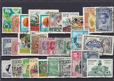 Ceylon Lot Of Used Stamps (#837)