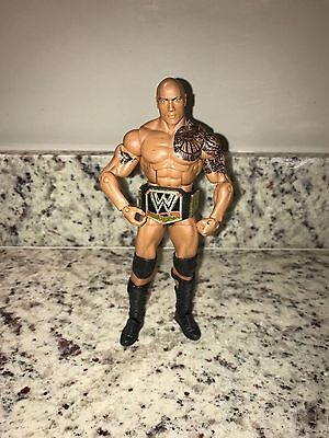 WWE Elite Action Figure - The Rock with Championship Belt