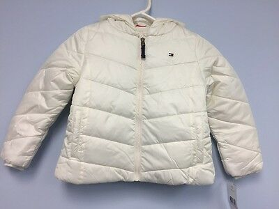 Nwt Girls Tommy Hilfiger Winter Ivory Coat Jacket New Hooded Size  6
