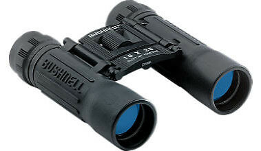 Bushnell Powerview 12x25 Compact Folding Roof Prism Binocular (Black) - 131225