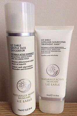 Liz Earle Gentle Face Exfoliator & Intensive Nourishing Treatment Mask - NEW!