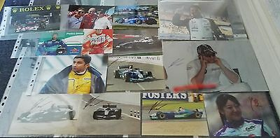 Motor Sport F1 Wec Le Mans Autograph Collection Job Lot Signed By 28  Motorsport