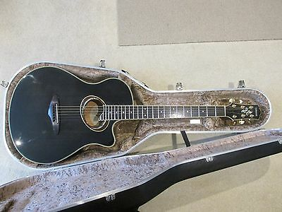 Yamaha APX8D Deep bodied electro acoustic guitar with Hiscox case Bert Jansch