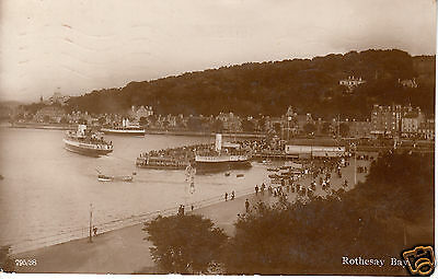 Isle of Bute: Rothesay Bay - Steamers - Local Publ. McNicol - RP PC 1924 (P751)