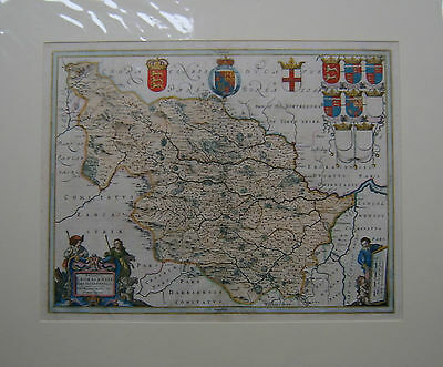 Yorkshire West Riding: antique map by Johan Blaeu, 1645-67