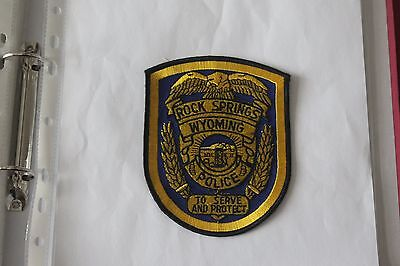Shoulder Patch from Rock Springs Police Department Wyoming