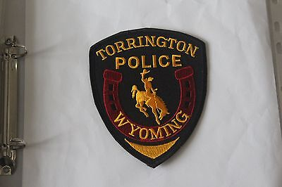 Shoulder Patch from Torrington Police Department Wyoming