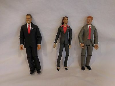 3 Safeco Insurance Co Action Figures & Accessories Happy Worker Campaign Ad RARE