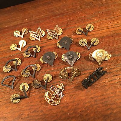 Vintage Military Pin Lot (19) U.S. Navy Army Air Force Marines PRIORITY MAIL